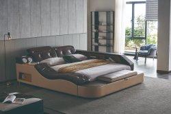 Nuovo design, moderno, letto in legno massiccio per camera da letto con Massaggi e cassaforte