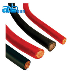 De zwarte Isolatie 25mm2 van pvc van de Kabel van de Batterij Flexibele