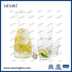 Горячая продажа кухонных стеклянный кувшин для хранения стекло бутылок продовольственный набор с 4PCS стеклянные чашки Housewares расширительного бачка