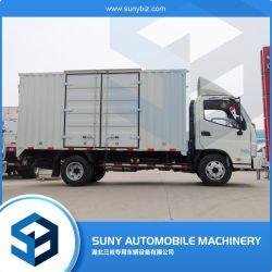 الصينية Foton 6 Wheelers ميني بوكس تسليم شاحنة شاحنة شاحنة شاحنة صغيرة للبيع