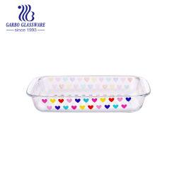Оптовая торговля дешевые 1,5 л табличка противень, микроволновая печь, безопасное стекло форма для выпечки (ГБ13G18299-QT-504B)