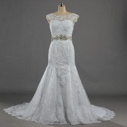 W421 Vintage Deep V col bateau Black Lace Mermaid robe de mariée de mariée