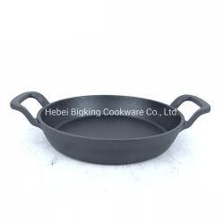 Vaschetta del ghisa, vaschetta di frittura di Preseasoned del ghisa, insieme dello Skillet
