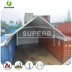 Bastidor de aluminio en el exterior del techo de la carpa de almacenamiento temporal de vivienda de dosel contenedor de envío