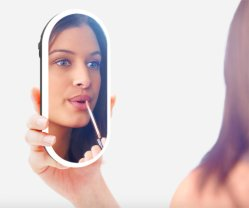 Spreker van Bluetooth van de Spiegel van het hete de Verkopende LEIDENE Huis van de Vertoning Transparante