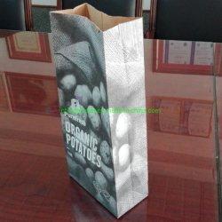 Umweltfreundliche kundenspezifische Kartoffeln 2.5kg, die Papierbeutel mit dem 2 Falte-Papier verpacken