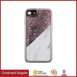 Cassa scorrente del telefono delle cellule di Bling di scintillio della cassa liquida del telefono mobile