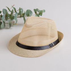 Outdoortravel Brasil Malha de palha com chapéus de cowboy, Malha chapéus, Cowboy malha aerada Caps chapéus, tampas de malha de couro, chapéus de Fita de couro