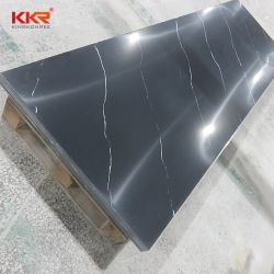 Reines schwarzes Wand-Küche-Badezimmer-festes Oberflächenmaterial
