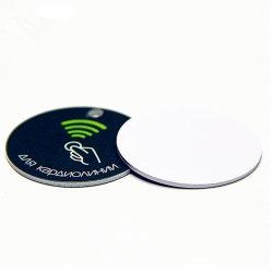 安いRFID Hf NFC MIFARE 1K ISO14443Aの自己接着反金属の資産のステッカーのラベルの札