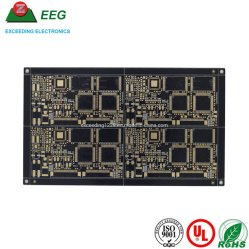 Camada 4 Alto Tg Fr4 PCB Eletrônico Board com Soldermask Preta