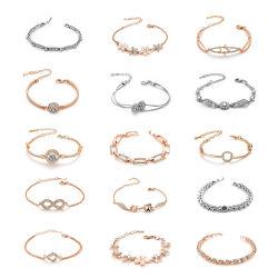 regalo de promoción Whosale Pulsera de moda joyas de oro de zirconio encanto Pulsera de cristal de la moda