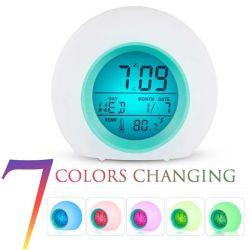 [فكتوري بريس] [لكد] إنذار طاولة مكتب ساعة سبعة لون مع [سنووز] وقت معطيات درجة حرارة [ك-608]