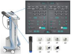 أحدث جهاز للعلاج الطبيعي للعلاج الطبيعي لموجة الصدمة الصحية ذات القنوات المزدوجة