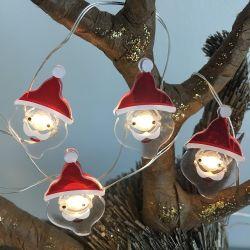 Operado a bateria Natal Boneco de fio de cobre de LED Mini Micro String de fadas para luzes de Natal decoração doméstica