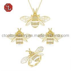 OEM/ODM завод пользовательского дизайна моды украшения кольца, серьги, браслеты, ожерелья 925 серебряных ювелирных украшений с золотым покрытием возросла с золотым покрытием для женщин и мужчин