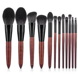 12ПК высокого качества для макияжа набор щеток Foundation Eyeshadow Eyeliner окрашивание косметические щетки вращающегося пылесборника щетка для макияжа