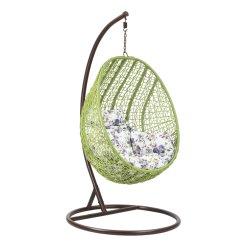 Patio Parco Giardino esterno in legno Swing uovo Rattan cuscini sedia Sedia a panghiera amaca