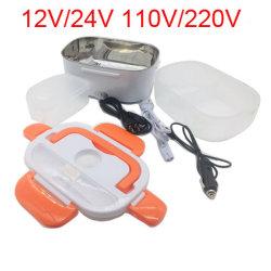 Портативный 12/24 V/110/220V двойного использования дома погрузчика ланч-бокс электрического отопления автомобиля подогреватель детского питания риса контейнер для поездки школа управления
