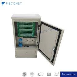 Equipamentos de comunicação para exterior em armário SMC com ligação cruzada de fibra ótica