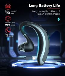 Orecchio d'attaccatura senza fili di Bluetooth di affari standby lunghi eccellenti della cuffia avricolare di S108 Bluetooth il vero mette in mostra la cuffia avricolare impermeabile