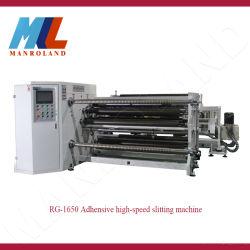 Taglierina non tessuta di laminazione di taglio di carta Rewinder del rullo del tessuto della macchina di taglio Rg-1650 della soluzione automatica ad alta velocità adesiva della macchina