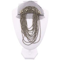 Collier de perles de faux collier artisanal Collier fleur