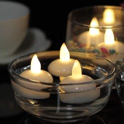 LED Tea Light Yellow Flikkering LED Candle met wateractivering