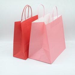 Plain natürliche Papiertüten mit Handles Bulk, Bagmad Geschenk Papiertüten, Kraft Geburtstagsparty begünstigt Lebensmitteleinzelhandel Takeouts Geschäft