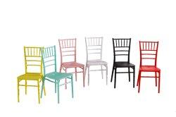 Cadeira Chivari, cadeira de casamento de venda quente cadeira de plástico coloridas