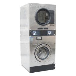 Personalizada Auto-atendimento automático empilhadas lavadora e secadora de escola/lavanderia