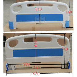 ABS van het Bed van het Ziekenhuis van de goede Kwaliteit Plastic Hoofdeinde en Footboard voor Verkoop