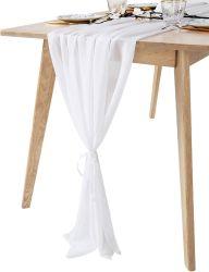 Table en mousseline coureurs pour la décoration de mariage