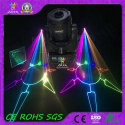 Animação discoteca RGB cor total 4W Fase Movendo Laser de cabeça