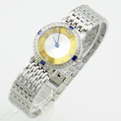 Женские часы золотые и быстрого набора из камня часы из нержавеющей стали для подарка (JY-G019)