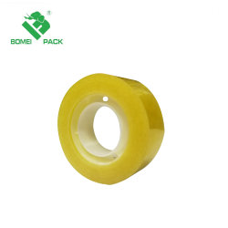 Nastro di plastica giallastro/trasparente/libero della cancelleria di memoria BOPP/OPP dell'adesivo 1inch per l'ufficio/banco