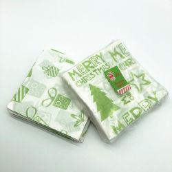 Imprimés de vente de Noël à chaud des serviettes en papier