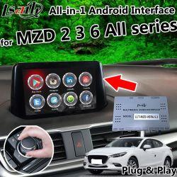 オールインワンプラグ & プレイ Android 6.0 7.1 8.0 GPS Navigator for Mazda 2 3 6 All Series with CarPlay 、 Yandex 、 OEM Button Control