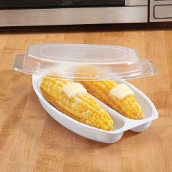 Micro-ondes Maïs Le maïs sucré en plastique cuiseur vapeur avec couvercle