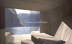 Sich hin- und herbewegendes Sauna-hölzernes Aufbau-Beweglich-Haus