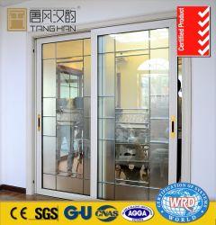 Классический интерьер Двери алюминиевые стеклянные раздвижные двери для дома украшения