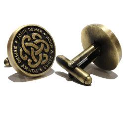 고품질 금속 앙티크 남자를 위한 금관 악기 주문 연약한 사기질 커프스 단추
