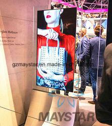 """55 """" Slim double face permanent OLED Kiosque de la publicité de signalisation numérique"""
