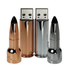 金および銀カラーのロケットの形USBのフラッシュ駆動機構