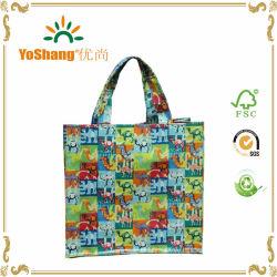 Venda por grosso de algodão com revestimento de PVC Sacola de Compras com todas as cores do logotipo impresso Personalizado