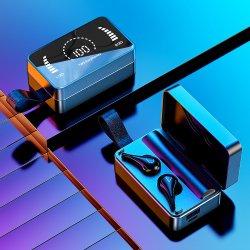 Novo no espelho estéreo auriculares auscultadores Bluetooth Tws com banco de Potência