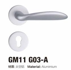 Bonne qualité de conception simple Rosette en aluminium de poignée de porte serrure (G11 G03 /G22 G03)