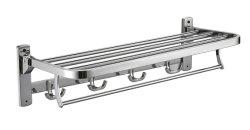 목욕탕 Shelves 또는 Foldable Wall Mounted Double Towel Holder/Towel Bar/Polished Stainless Steel