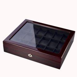 피아노 완료 Windows 나무로 되는 시계 전시 상자 높은 광택에 의하여 래커를 칠하는 나무로 되는 보석 저장 선물 상자 또는 상자