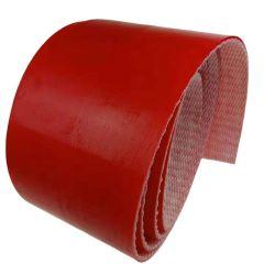 La coupe de la courroie du convoyeur de PU rouge résistant pour Gerber la faucheuse